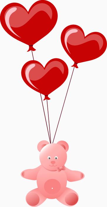 情人节心形气球