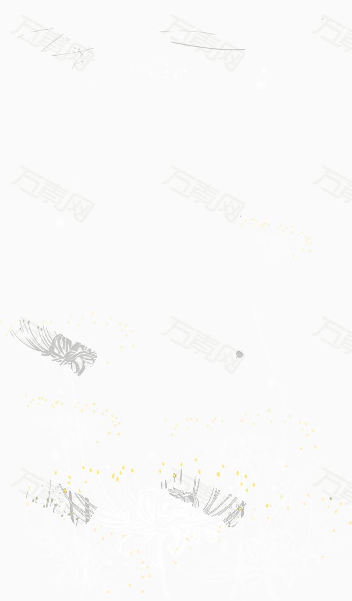 万素网 素材分类 白色彼岸花矢量  2591