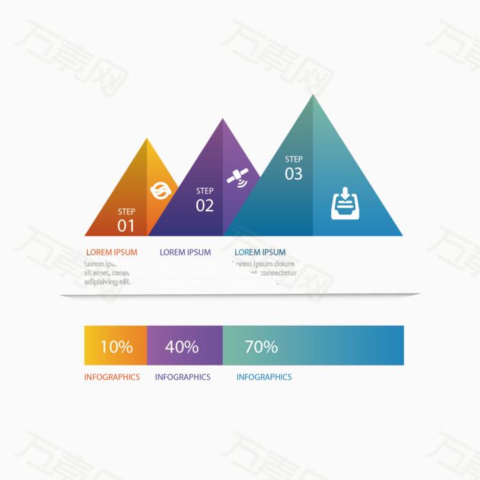 矢量ppt三角形素材图片免费下载_ppt元素_万素网