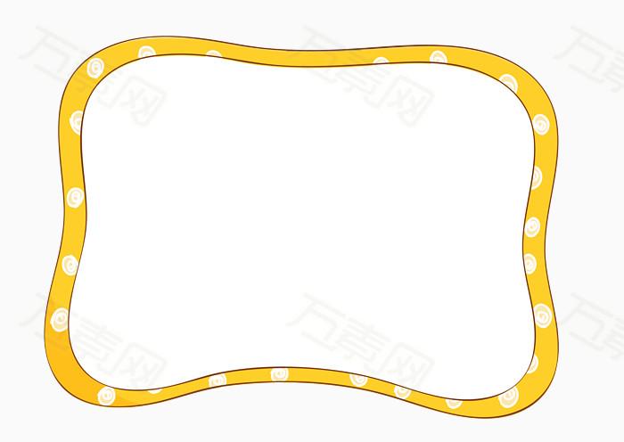 可爱边框 韩式边框 照片框 黄色