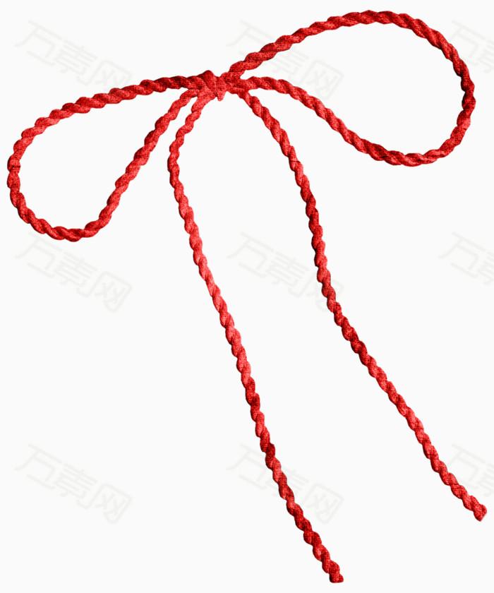 中国红绳图片,中国红绳元素,红绳蝴蝶结素材,红绳蝴蝶结