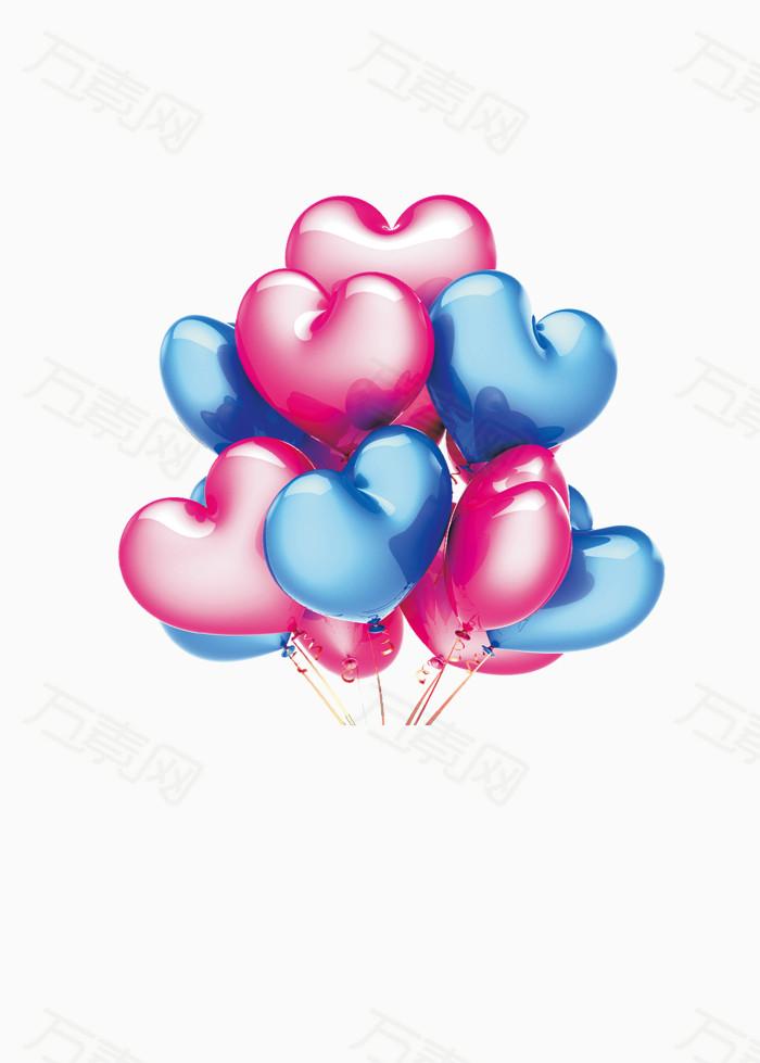 红色  热气球 气球 礼物 礼盒 彩球 png素材 免抠素材 降落伞 漂浮