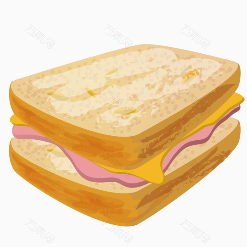 卡通三明治图片