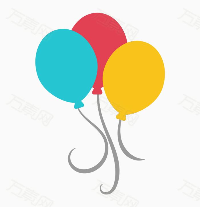 卡通手绘多彩气球