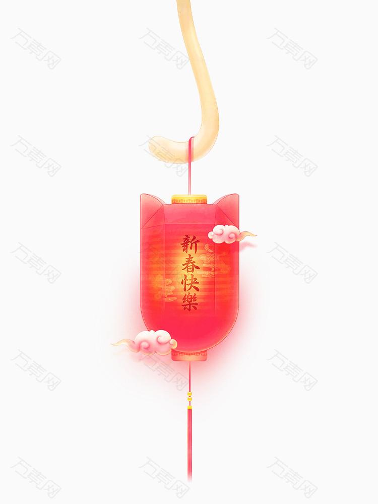 新春快乐红色灯笼