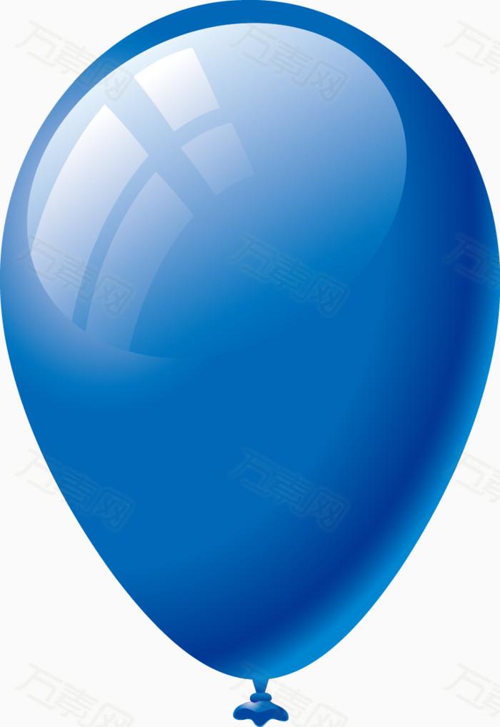 气球 漂浮 手绘  蓝色
