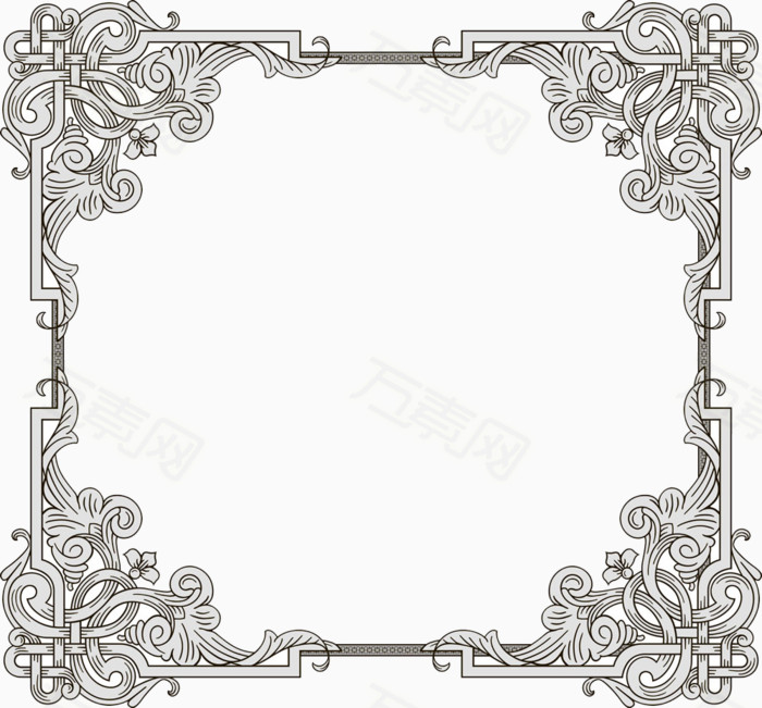 万素网 素材分类 正方形边框  3257                           提示