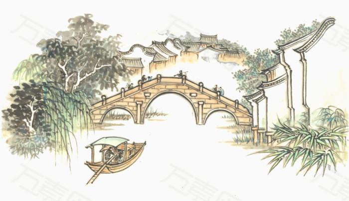 古代小船简笔画图片大全