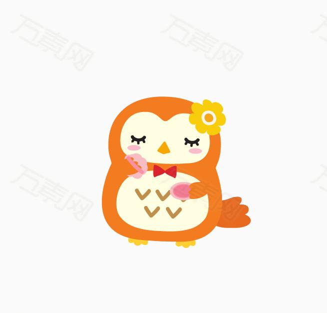 日系卡通圆圆的小动物