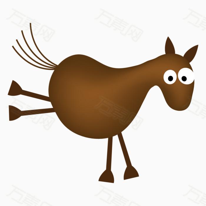 动物 可爱动物 卡通动物 手绘动物 毛驴 驴子