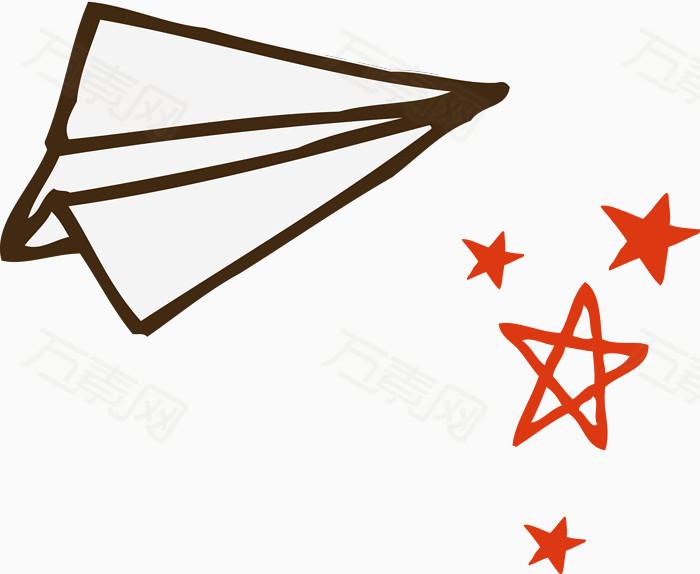 万素网 素材分类 手绘纸飞机矢量图  13153