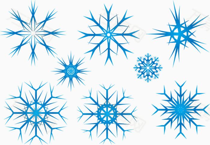 矢量图雪花样式图片免费下载_效果元素_万素网