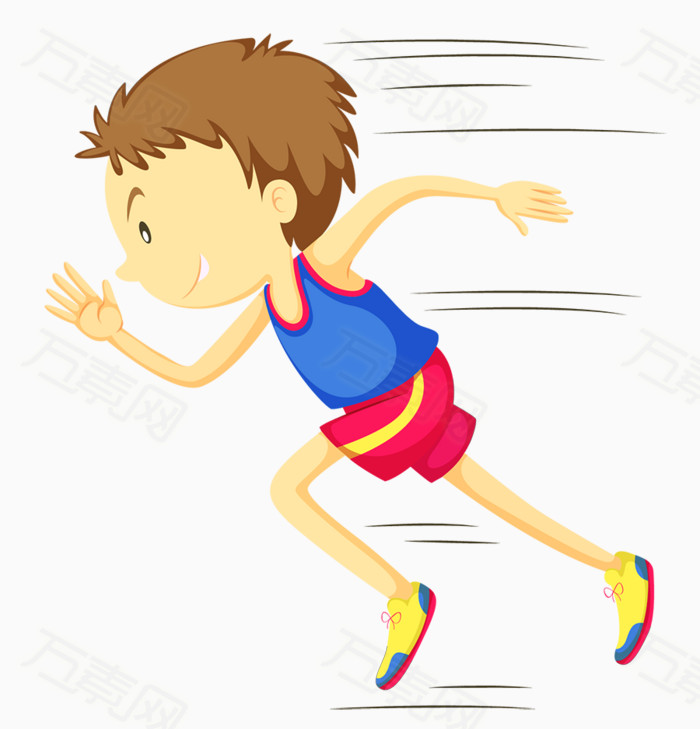 卡通校园短跑运动会图片免费下载_卡通手绘_万素网