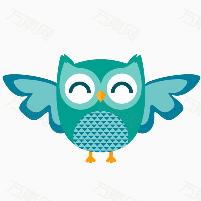 猫头鹰 动物 鸟类 飞禽 可爱动物 手绘猫头鹰