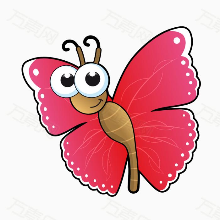 蝴蝶 可爱蝴蝶 动物 昆虫 红色蝴蝶 卡通蝴蝶