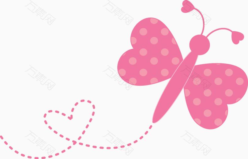 粉色小蝴蝶卡通可爱