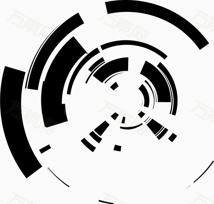 科技感褐色几何圆形  9805 万素网提供科技感褐色几何圆形png设计素材