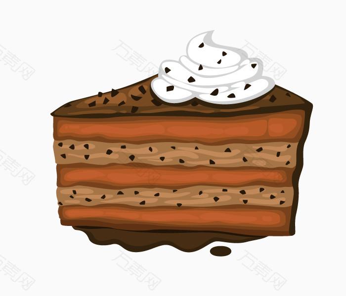 卡通手绘巧克力三角蛋糕图片