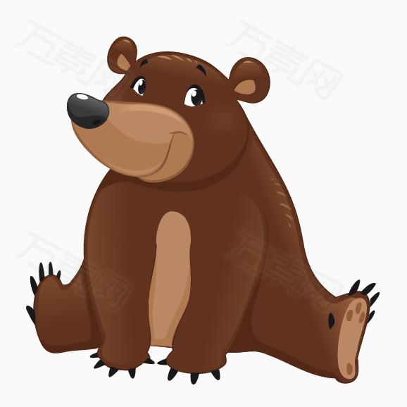 卡通狗熊简笔画_免抠卡通大狗熊