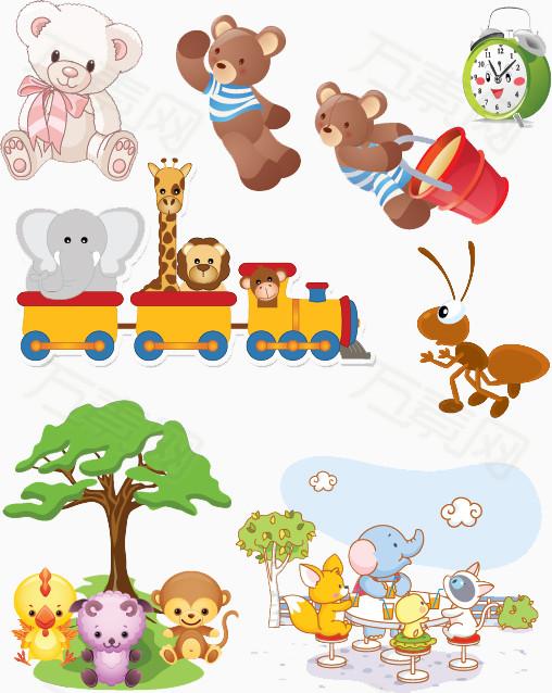 手绘可爱小熊图片免费下载_卡通手绘_万素网