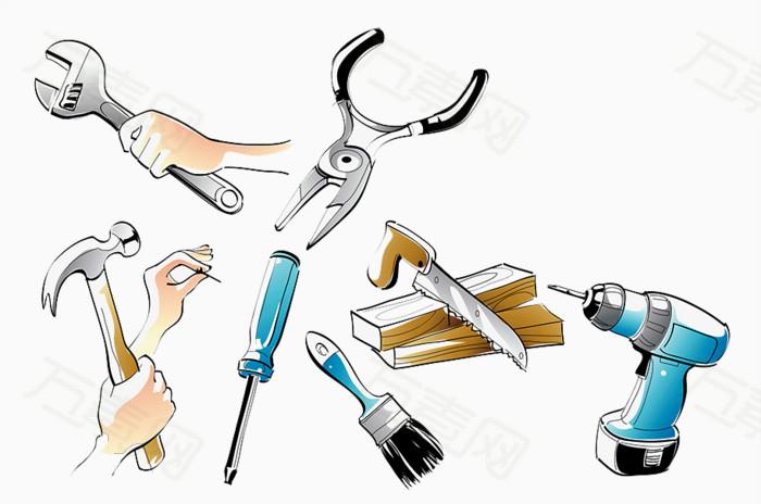 手绘维修工具