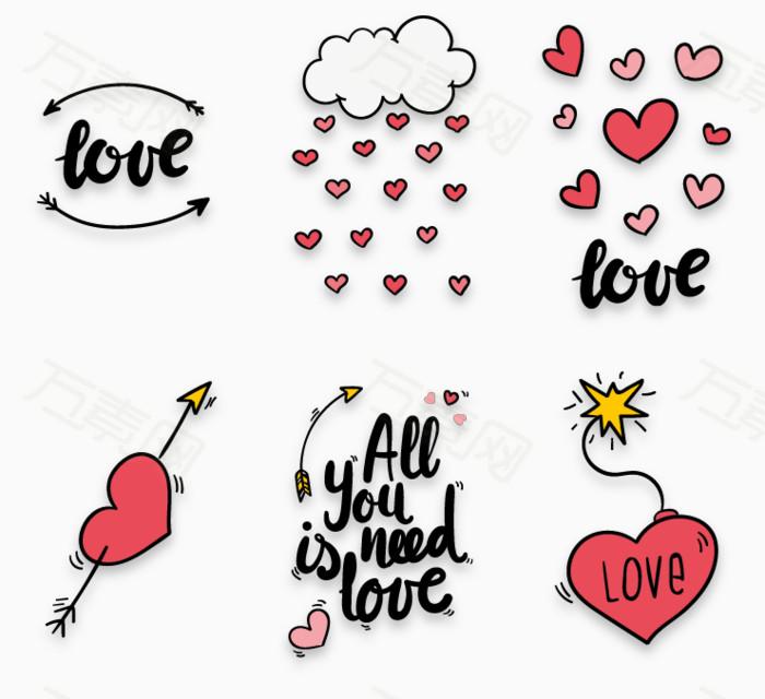 手绘爱情卡片