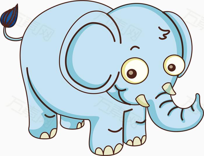可爱蓝色的小象