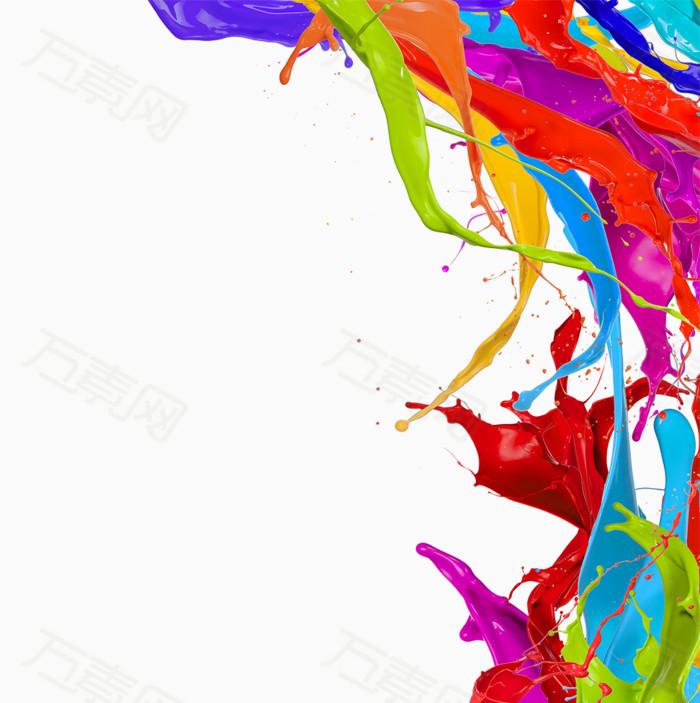 万素网 素材分类 颜料喷溅背景  10088                           提