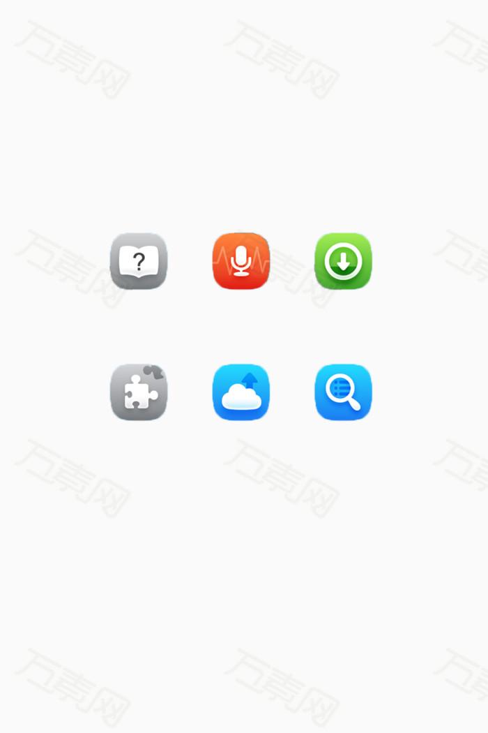 简约安卓app手机图标素材