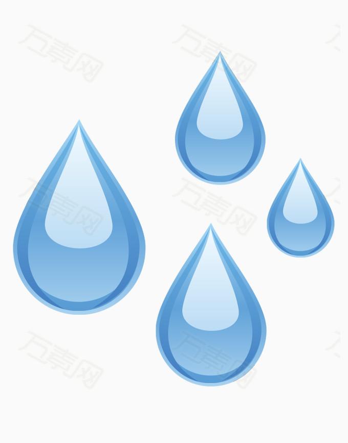 万素网 素材分类 矢量 环保标志 水滴  10769