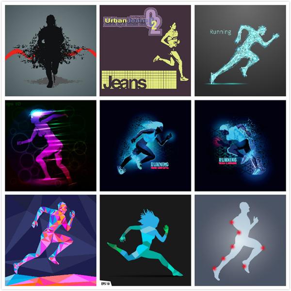 运动跑步人物