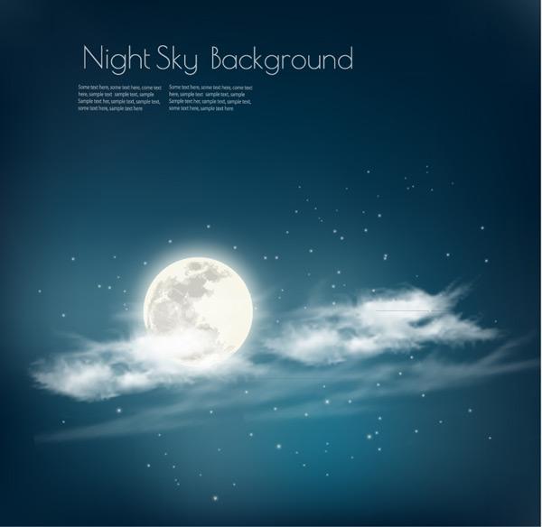 月亮和星空