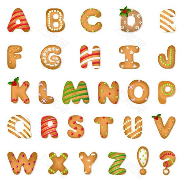 圣诞饼干字母