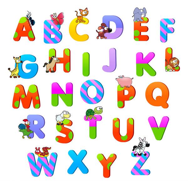 卡通儿童字母