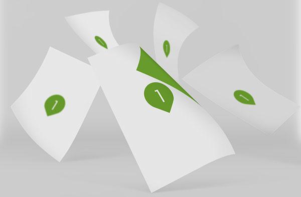 散开的纸张样机