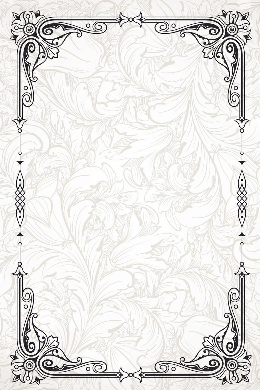 矢量欧式边框底纹古典纹理背景