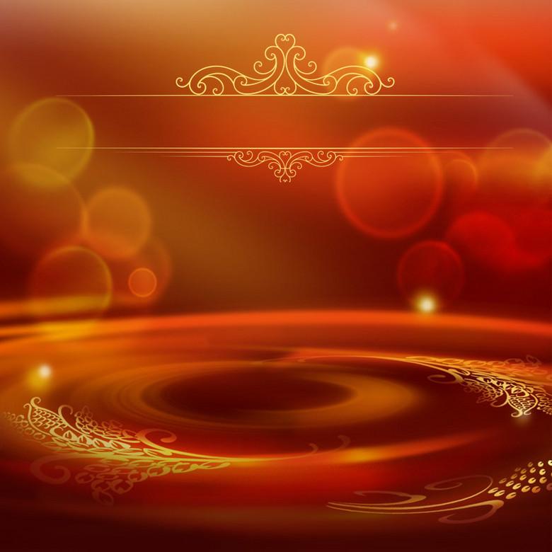 红色酷炫光晕主图背景素材