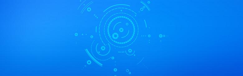 创意商务科技蓝色海报设计背景