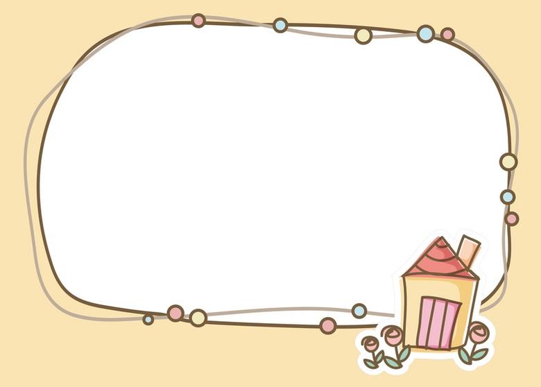 矢量卡通边框手绘背景素材