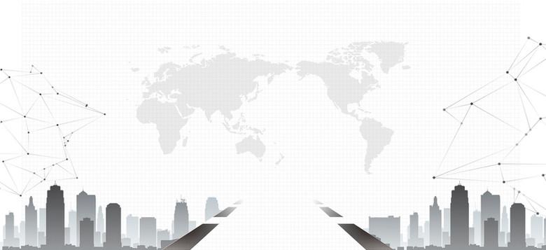 企业总结大会科技商务简约大气背景