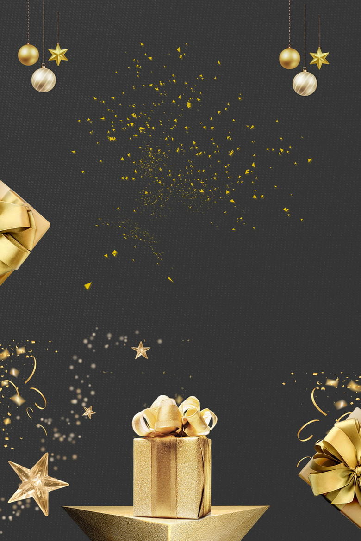 黑金礼盒礼品促销背景