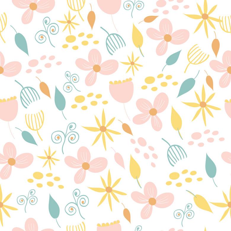 淡粉色小花素材背景