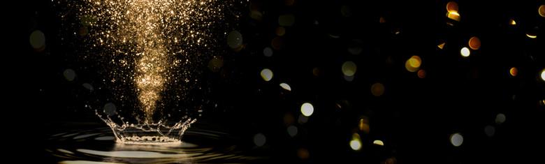 黑色金色闪耀飞扬梦幻