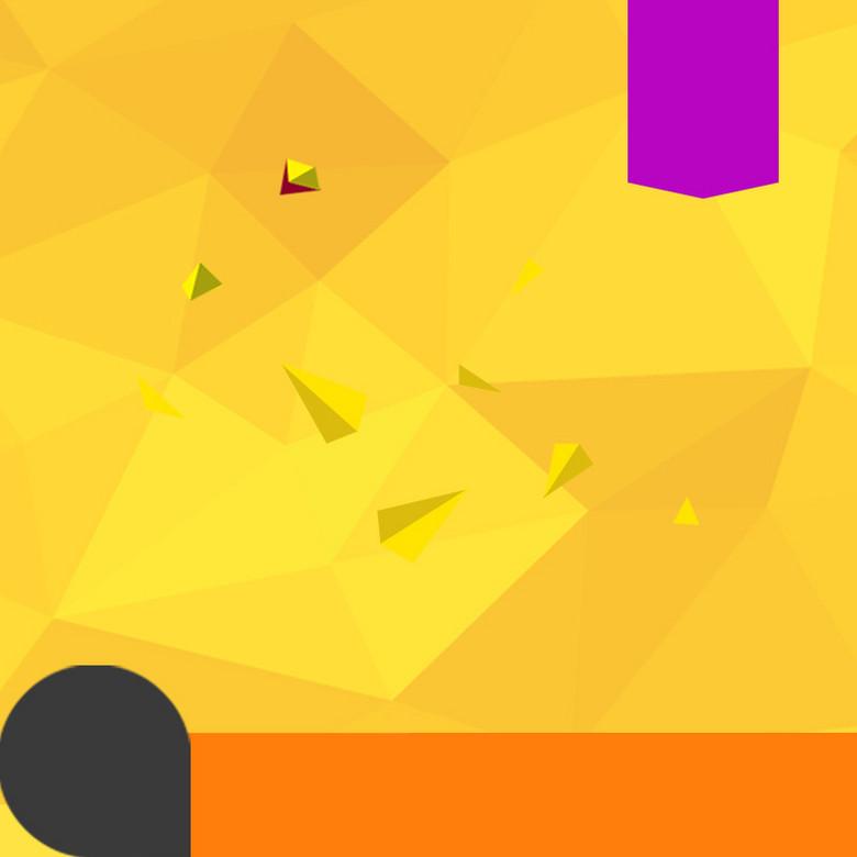 扁平化三角碎片