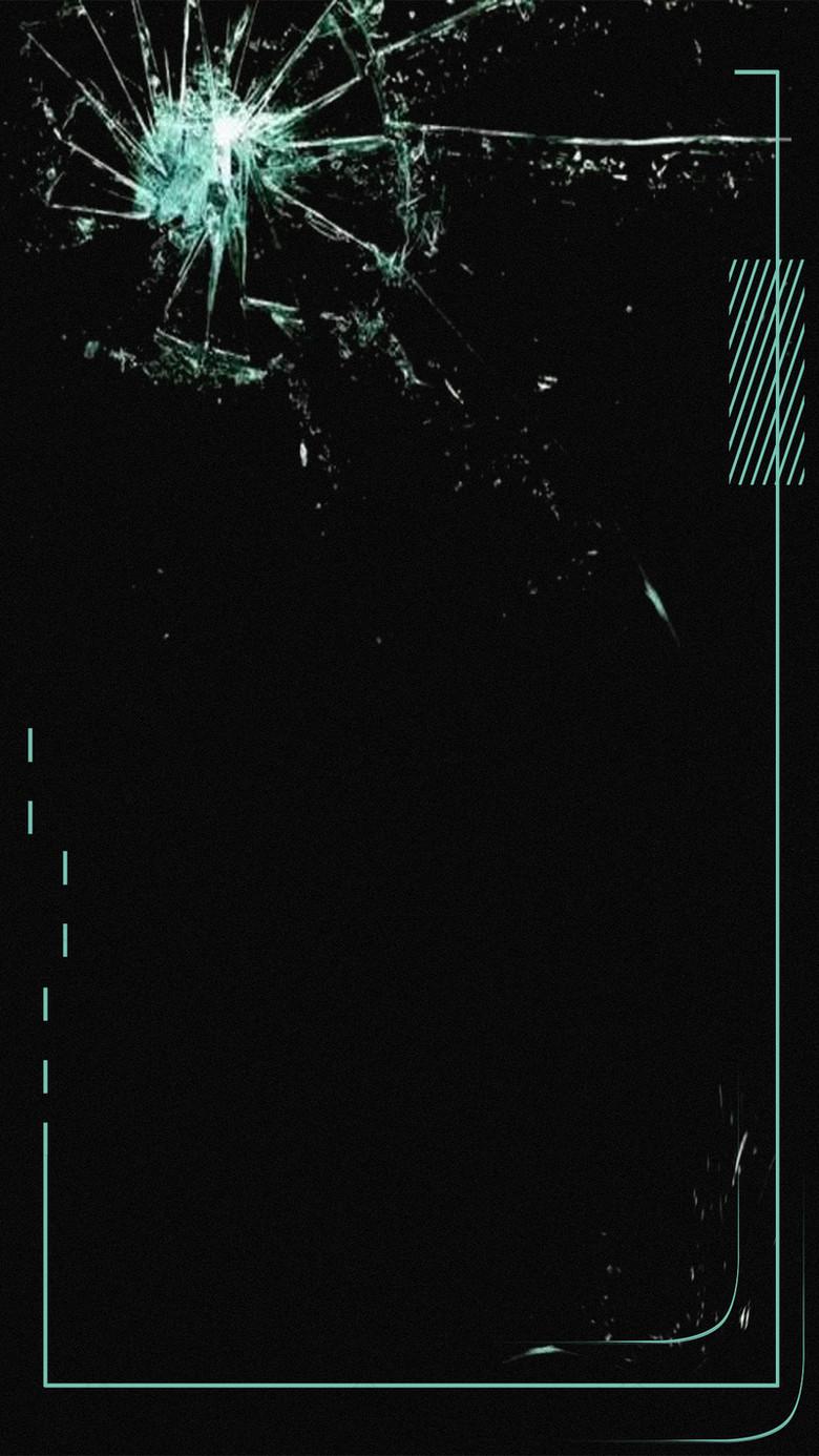 黑色碎玻璃设计背景图