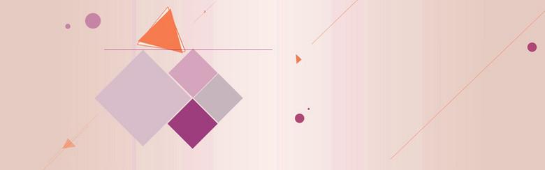 双11几何体创意banner背景