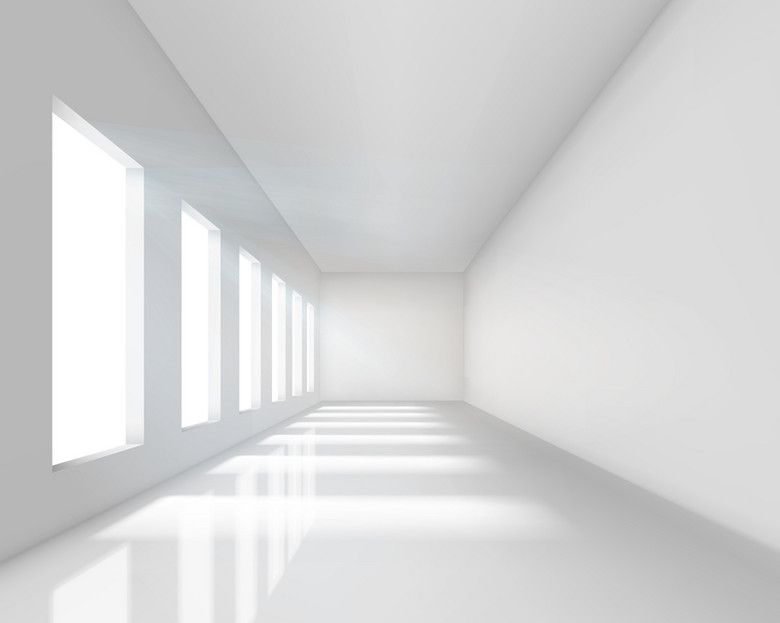 白色长廊窗户背景素材