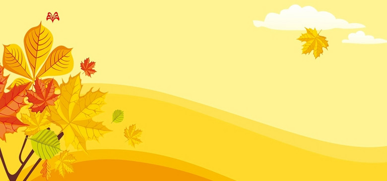 手绘秋季背景