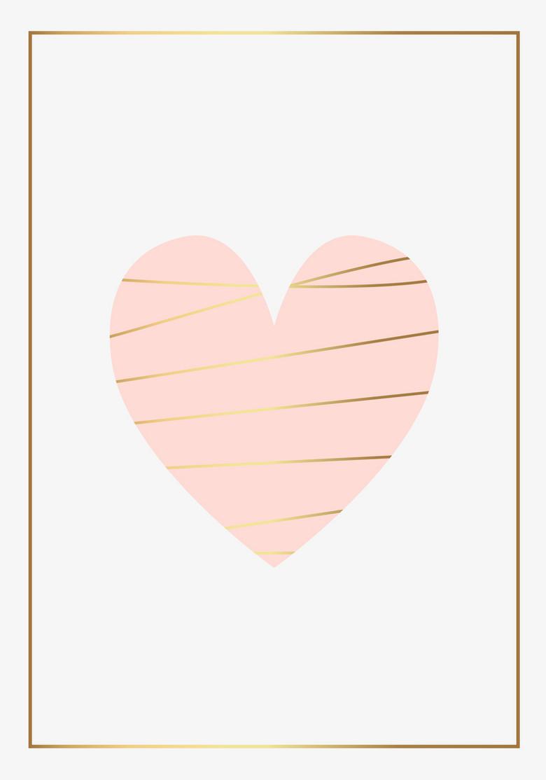 情人节素雅爱心海报背景素材