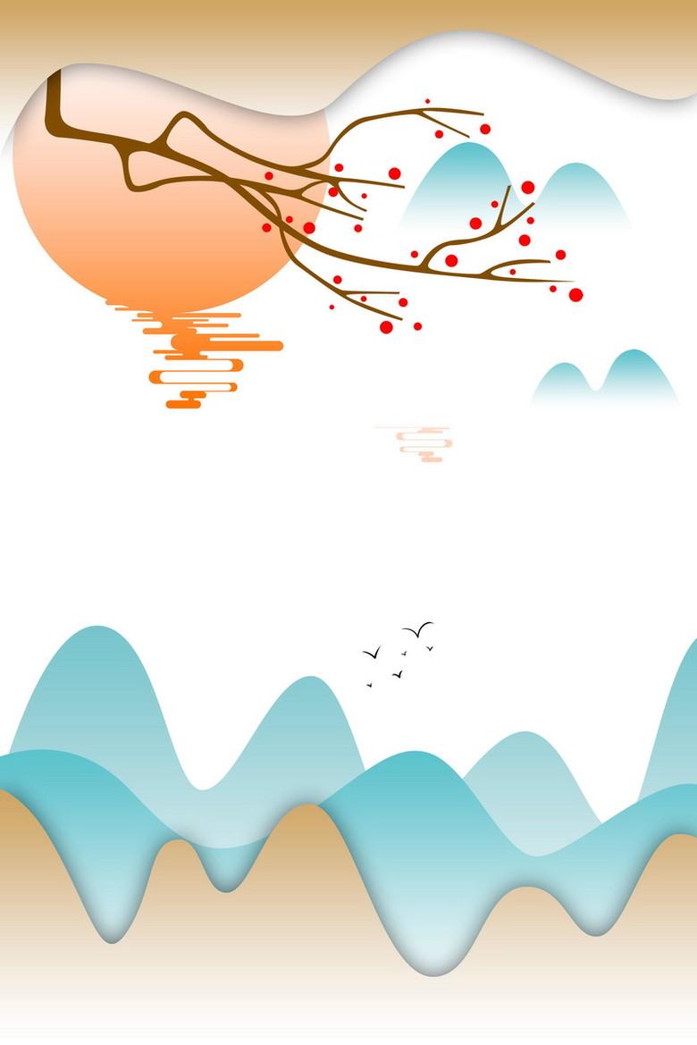 中国风山水意境装饰画